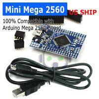 Mini MEGA 2560 R3 Uno ATMega2560 Board ATmega16U2 Chip For Arduino & USB Cable