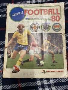 Panini Sticker Album Book Vintage Football 80 1980 With 98% Complete