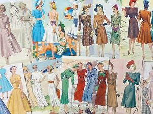 Vintage Fashion Ladies Card Toppers, Spring Summer Gift Tags Craft Make Your Own