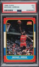 1986 Fleer Basketball #57 Michael Jordan RC Rookie HOF PSA 5