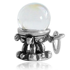 Crystal Ball Charm Sterling Silver 925 Mystic Fortune Teller CMFYCB01