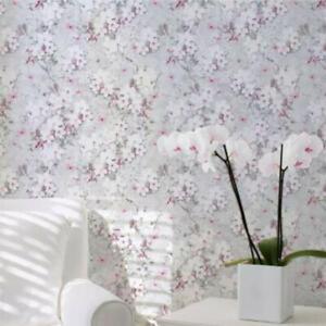 Lipsy Spring Blossom Glitter Pink 144010 Muriva Wallpaper Sparkle Floral