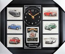 Classic MG Stunning Collector Cards Wall Clock