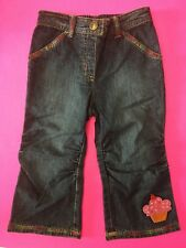 NWT GYMBOREE GIRLS CUPCAKE CUTIE JEANS 18-24 MONTHS CUPCAKE COLORED STITCHING
