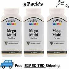 3 Pack's 21st Century Mega Multi for Men, Multivitamin & Multimineral 90 Tablets