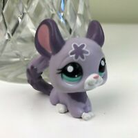 Littlest Pet Shop Purple Flower Chinchilla -  Small collectable Figure Preloved
