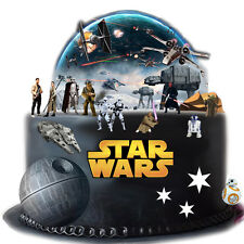 Star Wars Stand Up Cake Scene Edible Premium Wafer Paper Cake Topper-Easy To use