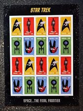 2016USA #5132-5135 Forever - Star Trek - Mint Sheet of 20  space  postage stamps