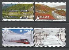 ˳˳ ҉ ˳˳NO18 Norway Norge Complete sets 2009-10 Different Trains Landscape Views