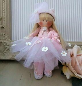 Rag doll handmade UK Tilda doll Ooak doll Princess dol Tutu MELLISSA 6 inch tall