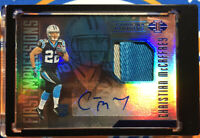 Christian McCaffrey 2017 Panini Illusions Rookie Autograph Patch RPA /100 Auto