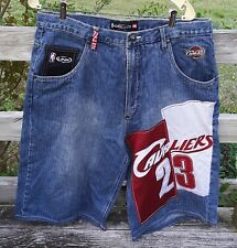 LeBron James Cavaliers Jean Shorts UNK Denim NBA #23 Size 36