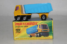 MATCHBOX SUPERFAST #50 ARTICULATED SEMI TRACTOR TRAILER TRUCK, EXCELLENT, BOXED