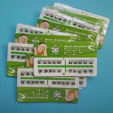 500 X Dental Orthodontic Metal Brackets Brace Standard Roth 022 Slot 345 Hooks