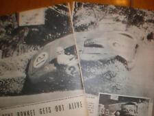 Photo racing drive Rene Bonnet crashes Nice France 1953
