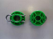 2x Saab 900 93 95 Verde Ventana Regulador rodillos 4493433 9-3 9-5