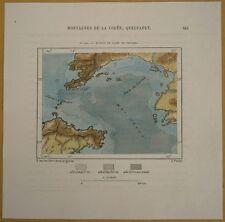 1882 Perron map BOHAI SEA, KOREA BAY & YELLOW SEA (#124)