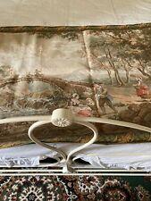 More details for large vintage tapestry panel/wall hanging/pastoral scene, 166 x 88cm