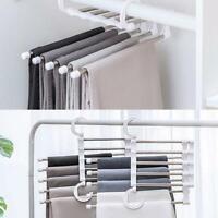 Magic Pants-Rack shelves 5 in 1 Stainless Steel Multi-functional Wardrobe Hanger