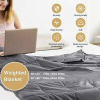 48x72 60x80 Weighted Blanket Deep Sleep Reduce Stress Blankets Queen Full Size