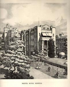 BRISTOL ROYAL INFIRMARY: 1950s O/E Print - Pencil Drawing after Graham Clilverd