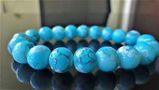"Turquoise Gemstone bead bracelet for Men Womenb (Stretch) 10mm 7.5"" Multicolor"
