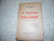 1942.le mensonge de Daladier.Pierre Mouton (envoi)