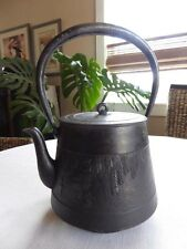 #92 Japanese Cast Iron Tetsubin, Teapot, Kettle, Frog, Signed