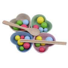 Kids Pretend Learning Chopsticks Toy Hand Practice Wooden Toys Ys