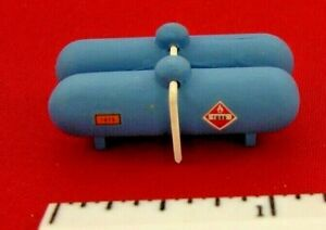HO 1:87 Scale Details: Blue Gas Storage Tanks. Unmarked