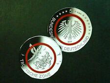BRD-Deutschland  5 x 5 Euro, 2017 ADFGJ, Satz-Tropische Zone, Polymer, unc/St.!
