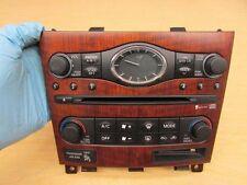 07 08 INFINITI G35 sedan clock face plate radio ac heater control switch panel