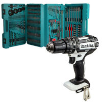 Makita DHP482Z White 18V Combi Drill With Makita P-44046 216 Pcs ACC. Set