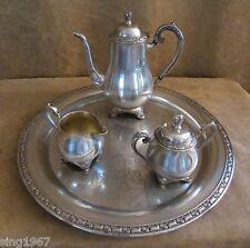 Vintage Oneida Park Lane Silverplate 4 piece Coffee Tea Service Pot tray