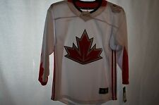 TEAM CANADA Adidas World Cup of Hockey White Jersey Youth Large/XL NWT