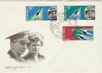 Poland 1963 Space Astronauts FDC Stars Cancel Stamps Cover ref R18811