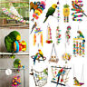 Pet Bird Wood/Rope Ladder Climb Parrot Macaw Cage Swing Parrot Bites Play Toy