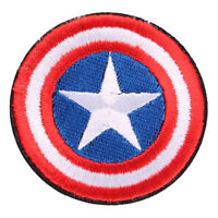 Avengers Captain America Shield Embroidered Iron/Sew ON Patch Badge 2.7""