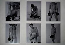 "Male Nude ""Athlete"", Original Artistic Photos, Black&White 6 Photos 5x7"