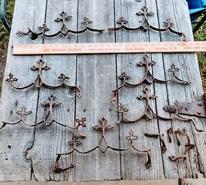 Group of Vintage Gothic Cast Iron Fence Topper Finials, SALVAGE