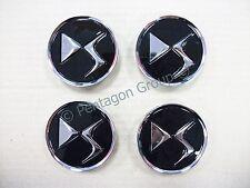 Genuine Citroen DS3 DS4 DS5 Set Of 4 Black Alloy Wheel Centre Caps 1609953780