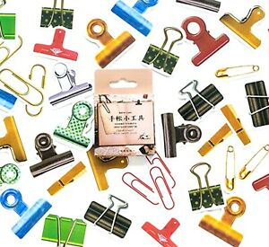 PAPERCLIP STICKERS Paper Clip Scrapbook Journal Stationery Card Craft Decoration