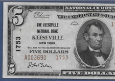NY 1929 $5 TYPE TWO ♚♚ KEESEVILLE, NEW YORK ♚♚ PMG VF 30  HARD TO FIND!!!