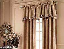 2 Croscill Telluride Dune Brown Tan beige lined Drapes Tailored Panels 44x84 new