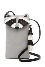 Fossil Raccoon Tech Novelty Leather Crossbody Phone Bag 100 Authentic