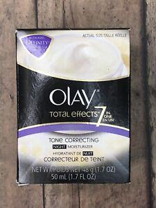 Olay Total Effects 7-In-1 Tone Correcting Night Moisturizer 1.7 Fl Oz