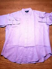 Polo Ralph Lauren Long Sleeve Silk/Linen Button Down Shirt Mens Size L