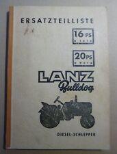 Betriebsanleitung,Ersatzteilliste Hydraulik Lanz Bulldog D1616 D2016 D2416 D2816