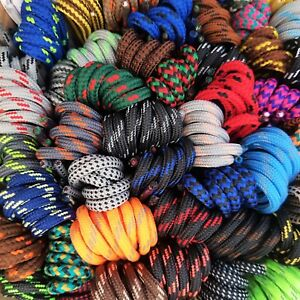Strong Round Shoe Boot Laces - Huge choice 50+ patterned designs - Length 180 cm