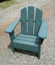 Kids Adirondack Chair Polywood Plastic Green Pre-Owned